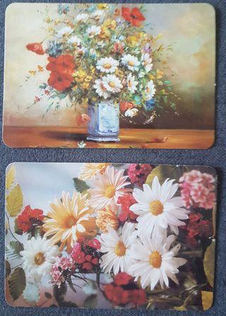Calendarios de bolsillo flores años 90