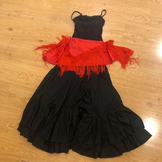 Conjunto falda flamenca niña