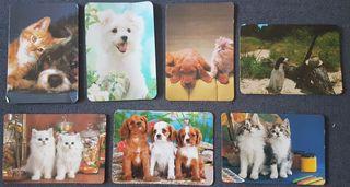 Calendarios de bolsillo gatos y perros años 90