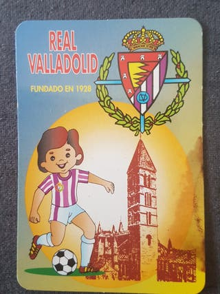 Calendario de bolsillo Real Valladolid 1996