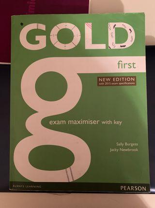 Libro de texto inglés gold first