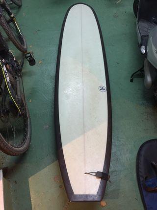 Longboard Tabla de surf + funda + quilla