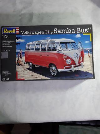 maqueta revell 1/24 volkswagen t1 samba