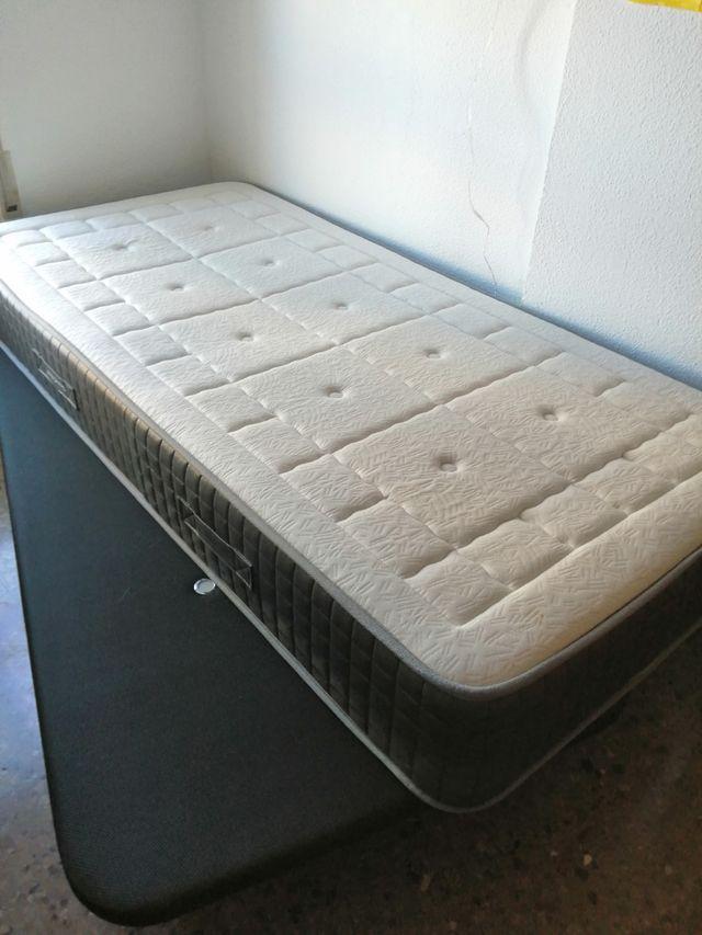 cama colchón viscoelástica y somier