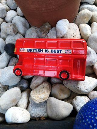Hucha cerámica vintage autobus LONDON