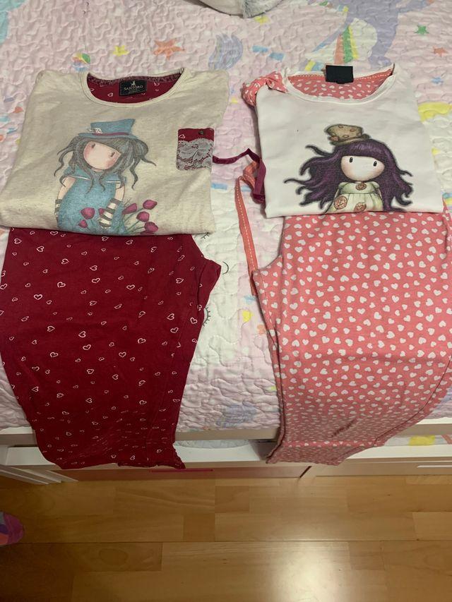 Pijamas gorjus , talla 10