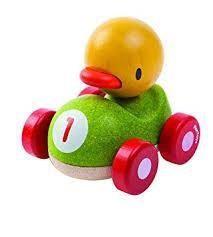 juguete coche niños. pato el piloto