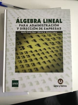 Lote libros Álgebra Lineal para ADE