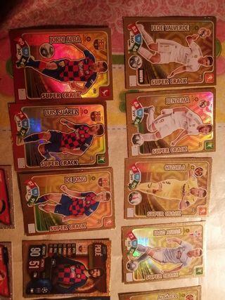 vendo lote 9 cromos supercracks adrenalyn 19-20