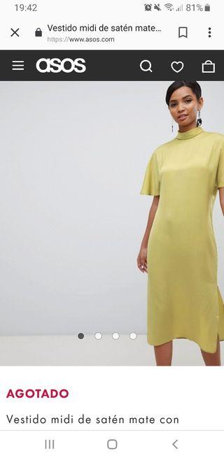 Vestido Asos pistacho