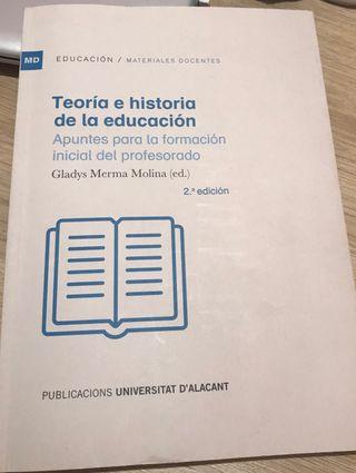 Libro Teoría e historia de la educación