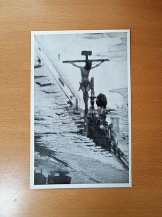 FOTO ANTIGUA CRISTO DEL CALVARIO CON PUBLICIDAD