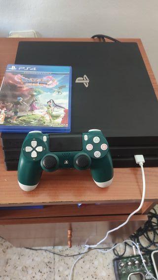 consola ps4 pro 1tb completa más dragon quest xi