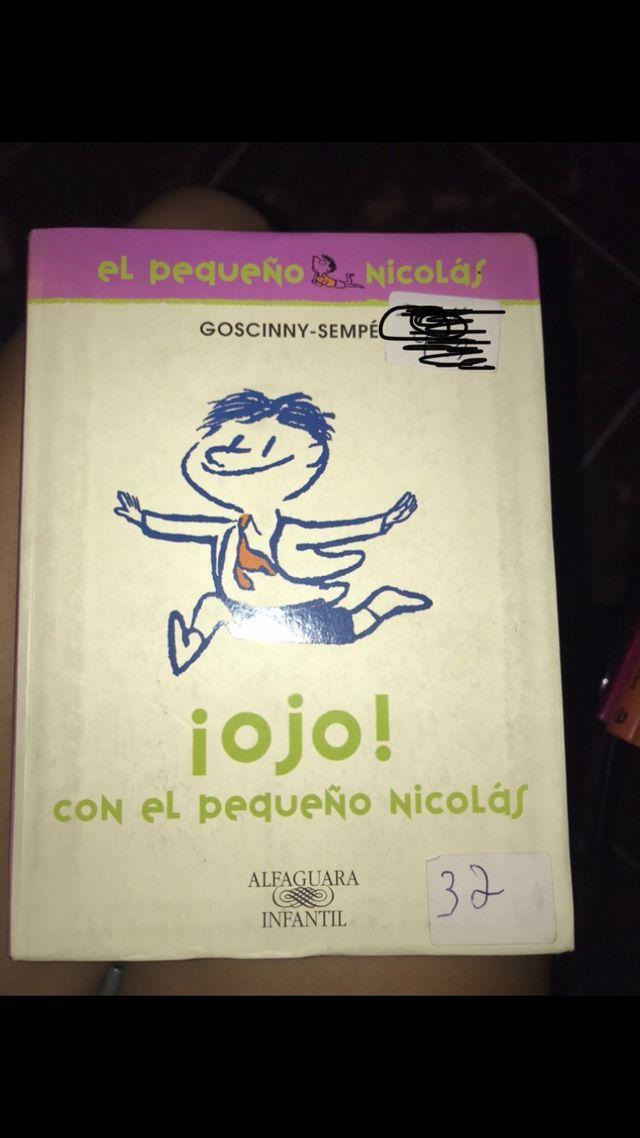 """Libro """"ojo con el pequeño Nicolás"""""""