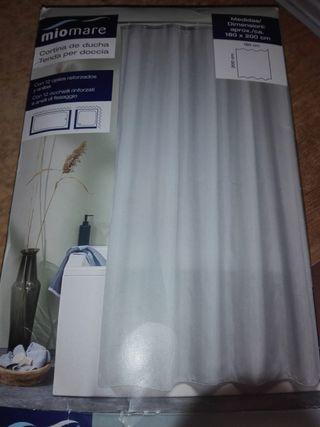 cortinas grises para baño