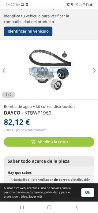 kit distribucion y bomba de agua