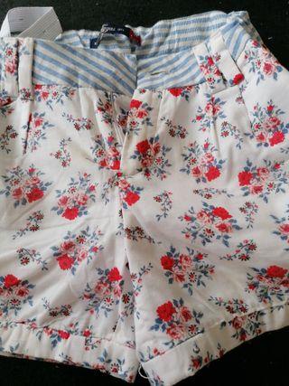 pantalon corto niña 9 años