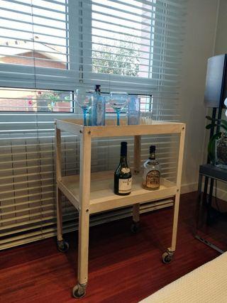 carrito mueble bar camarera industrial vintage