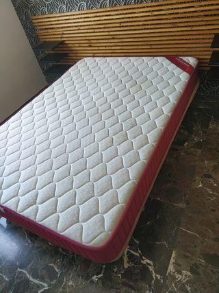 Base tapizada válvulas+Colchón viscoelástico