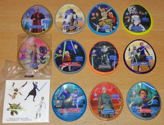 Star Wars 11 tazos ovalados y pegatinas