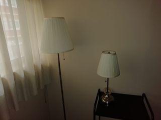 lampara de pie y lámpara de mesa