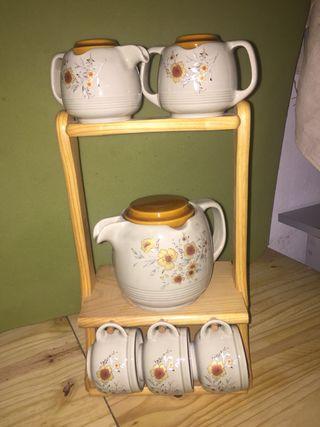 Juego café o té con soporte