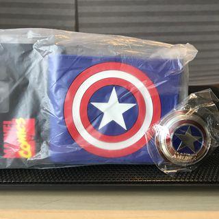 Lote cartera Capitán America + llavero