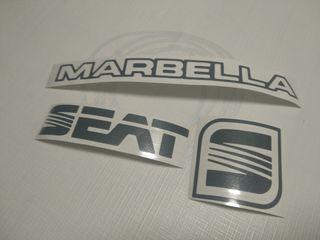 juego adhesivos Seat Marbella color gris