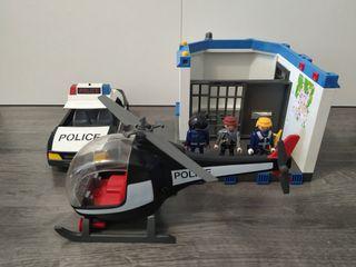 comisaria policía coche y helicóptero 5607