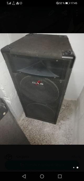 altavoces das pf215 doble 15p y amplificador e12