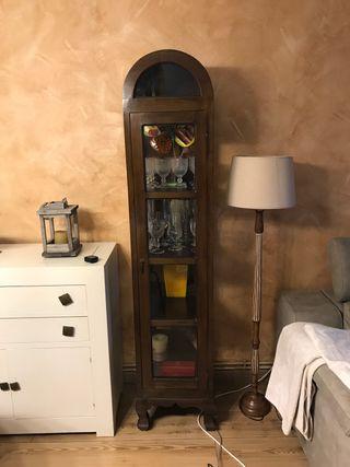 Mueble vitrina madera vintage