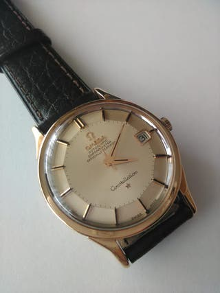 OMEGA Constellation Reloj Pie Pan Caja 18K.