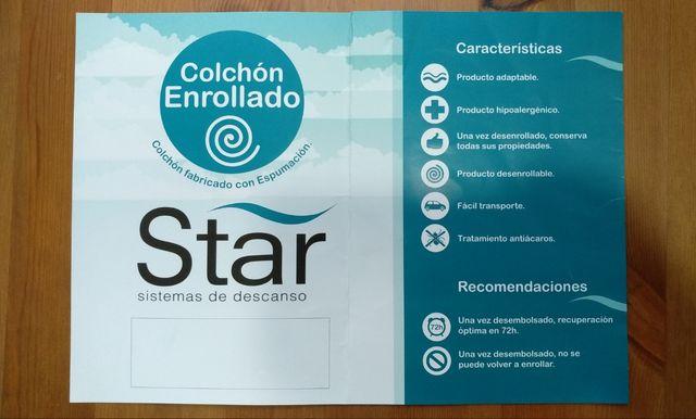 COLCHÓN VISCOELÁSTICO STAR 90 X 190