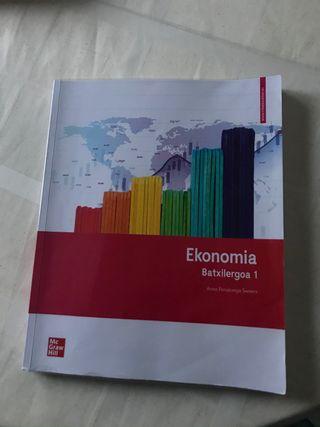 Libro de Economía en euskera 1. BACHILLERATO
