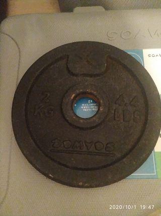 Discos de 2 kg para pesas de 28mm