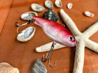 Vib Jig Textura Blanda Realista Pink 2 Triple Hook