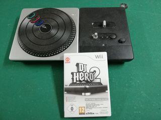 VIDEOJUEGO DJ HERO 2 PARA WII CON MESA MEZCLAS