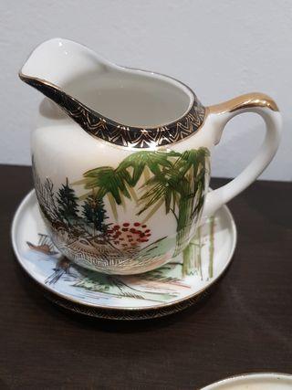 juego de te,café japones de cascara de huevo