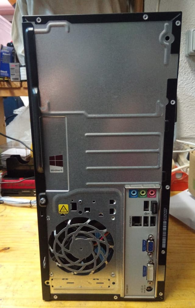 Torre-Pc HP Compaq 100, AMD E1-1500, 4 Gb Ram