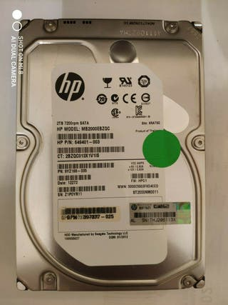 2 TB HDD Disco Duro Interno HP 3.5'' 7200 RPM