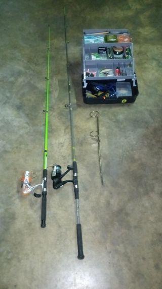 Todo el material de pesca.