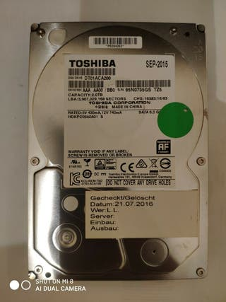 2 TB HDD Disco Duro Interno TOSHIBA 3.5'' 7200 RPM