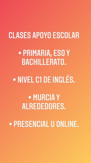 ¡CLASES PARTICULARES!