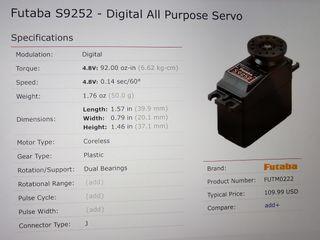 Servo Futaba S9252