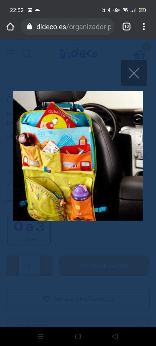porta juguetes coche. organizador para coche.