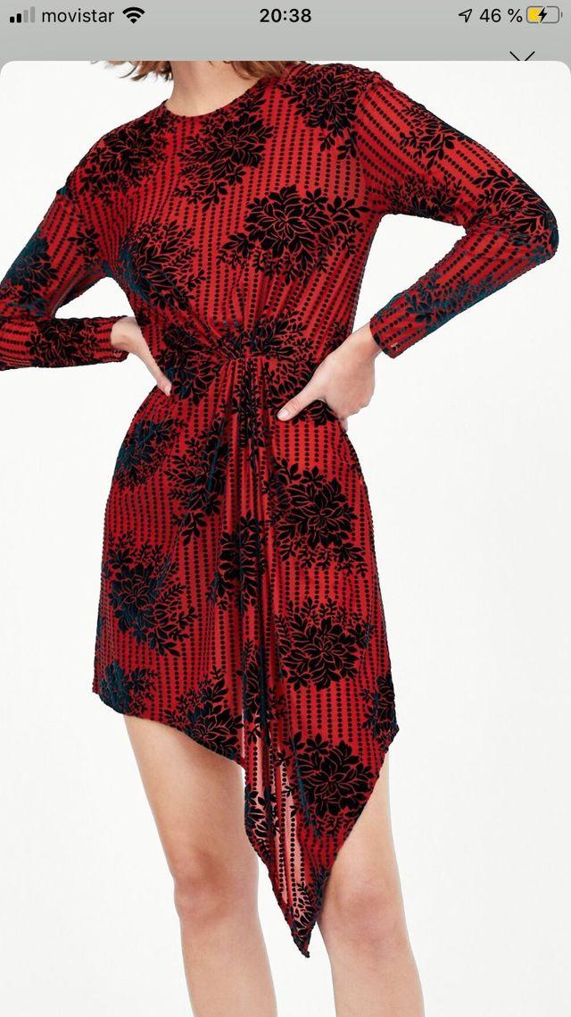 Vestido ideal rojo y verde oscuro