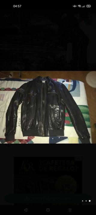 chaqueta de cuero hombre chevignon