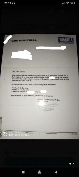 Documentación Fueraborda Yamaha 5cv