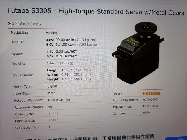 Servo Futaba S3305