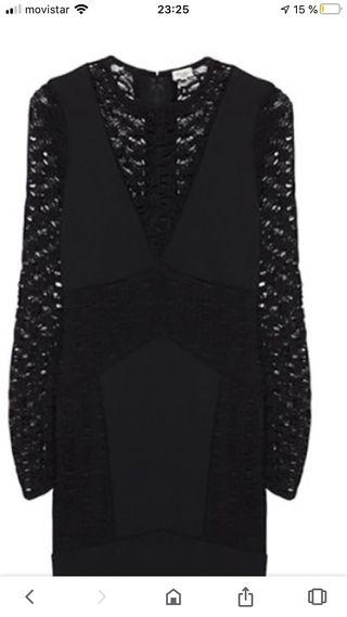 Vestido negro con encaje ideal para ocasión